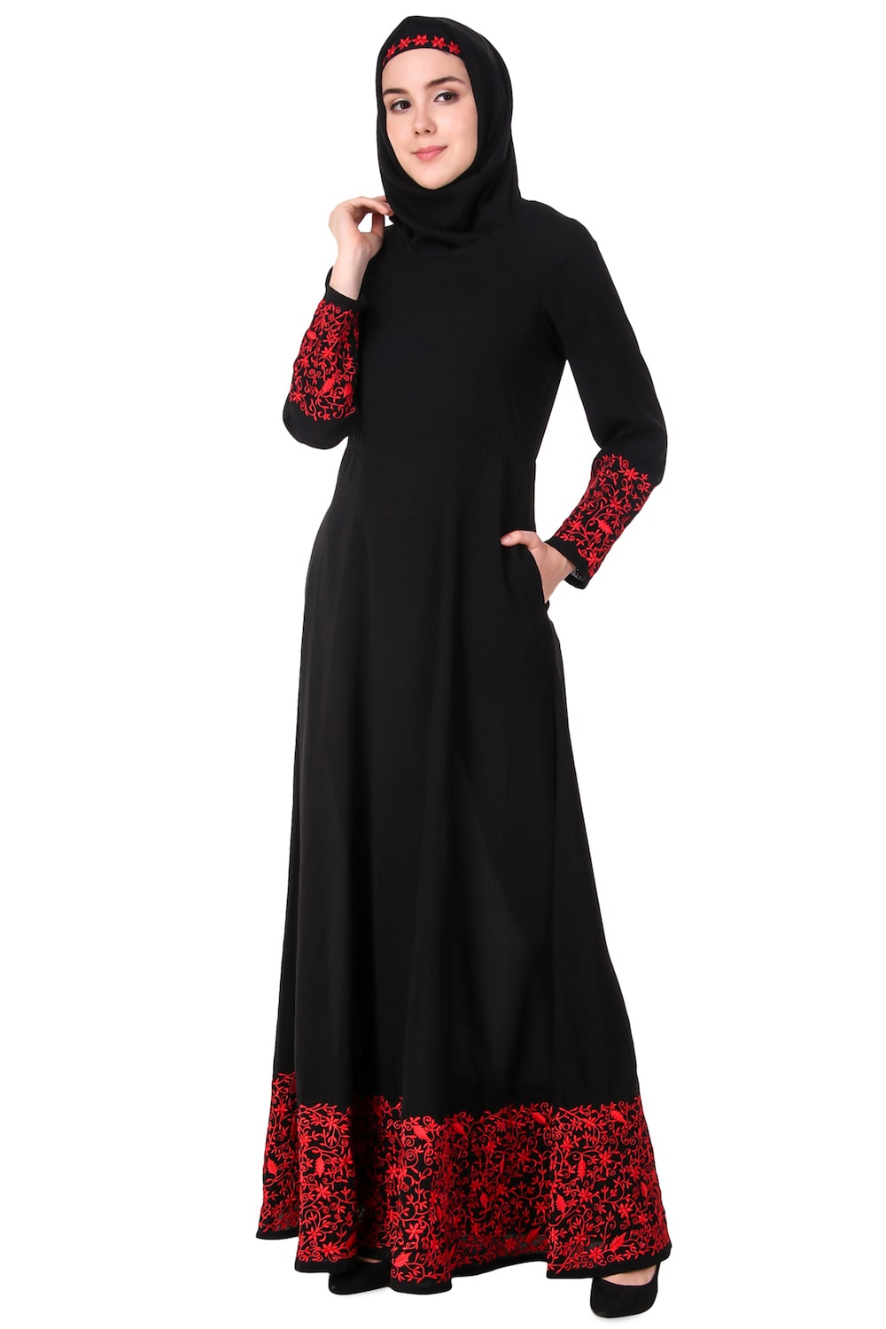 Heavy Hand Embroidered Anarkali Eid Abaya