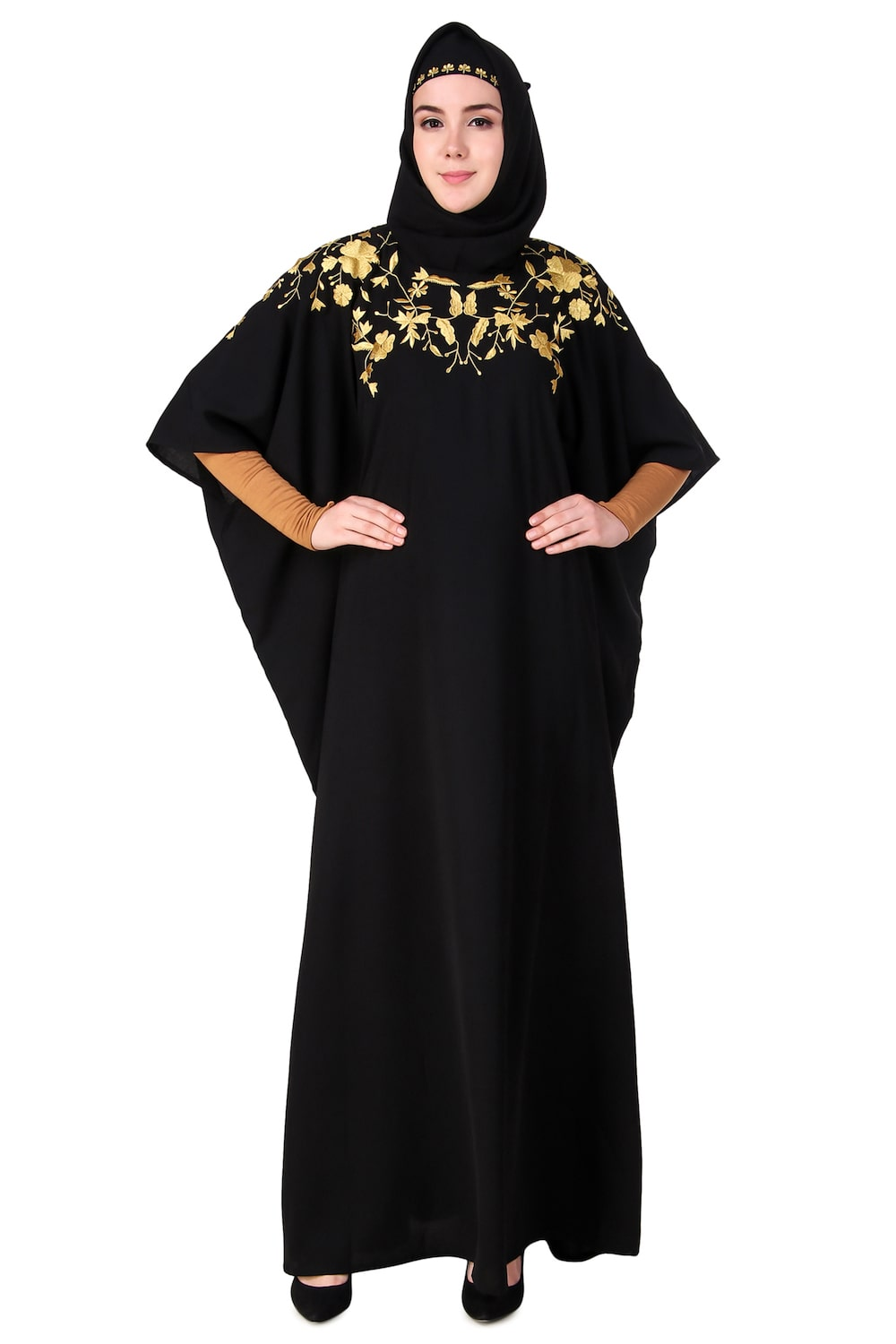 Beautiful Hand Embroidered Floral Kaftan