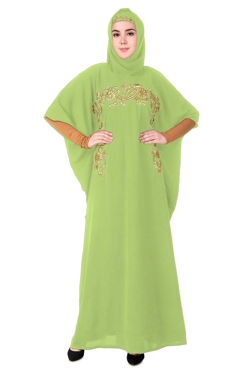 Designer Wear Hand Embroidered Dubai Kaftan