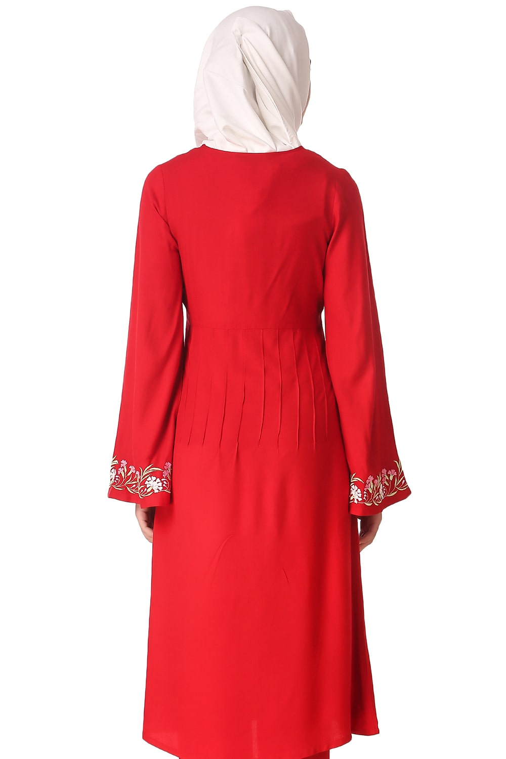 Red Bell Sleeve Rayon Tunic