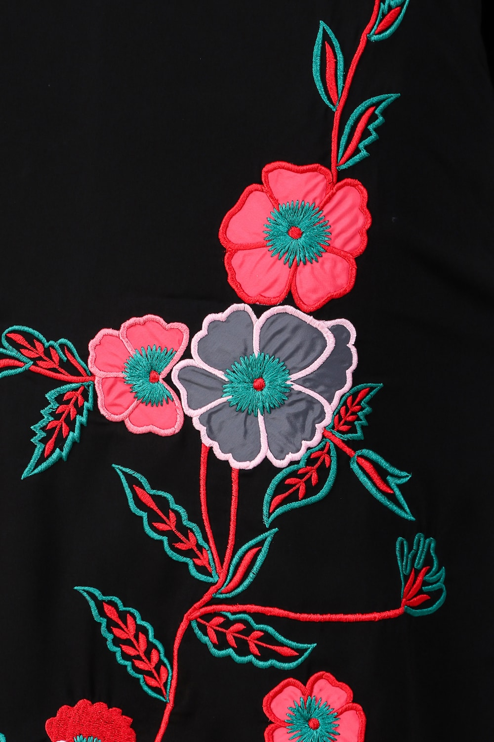 Floral Patch Work A-Line Tunic