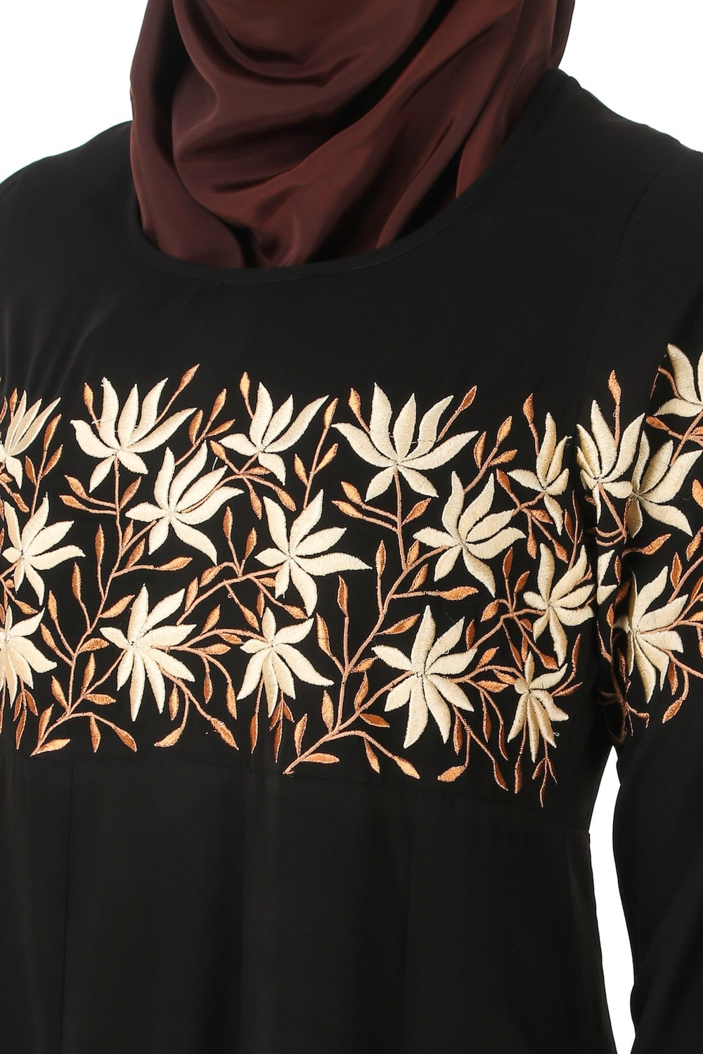 Horizontally Filled Floral Design Tunic
