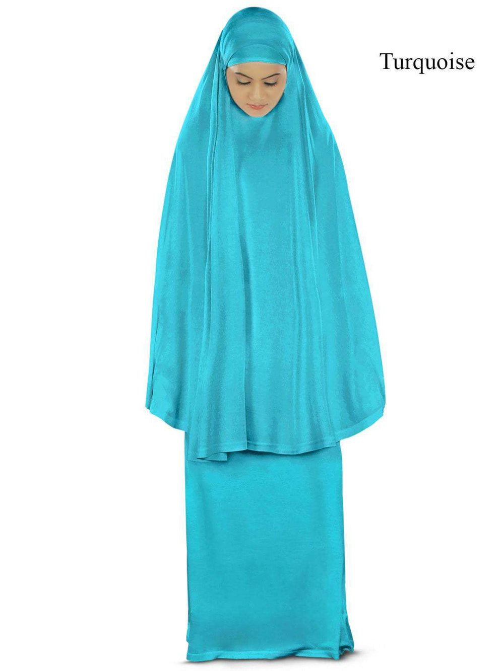 Dua Prayer Set (Khimar + Long Skirt)  - Soft Viscose Jersey