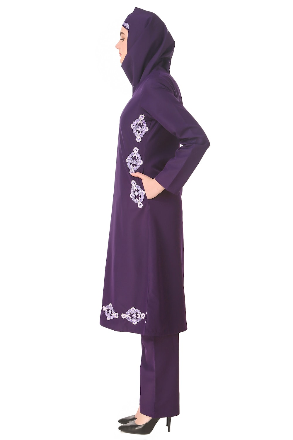 Navil Purple Salwar Kamez