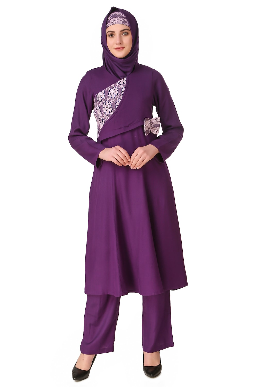 Sireen Rayon Purple Salwar Kameez