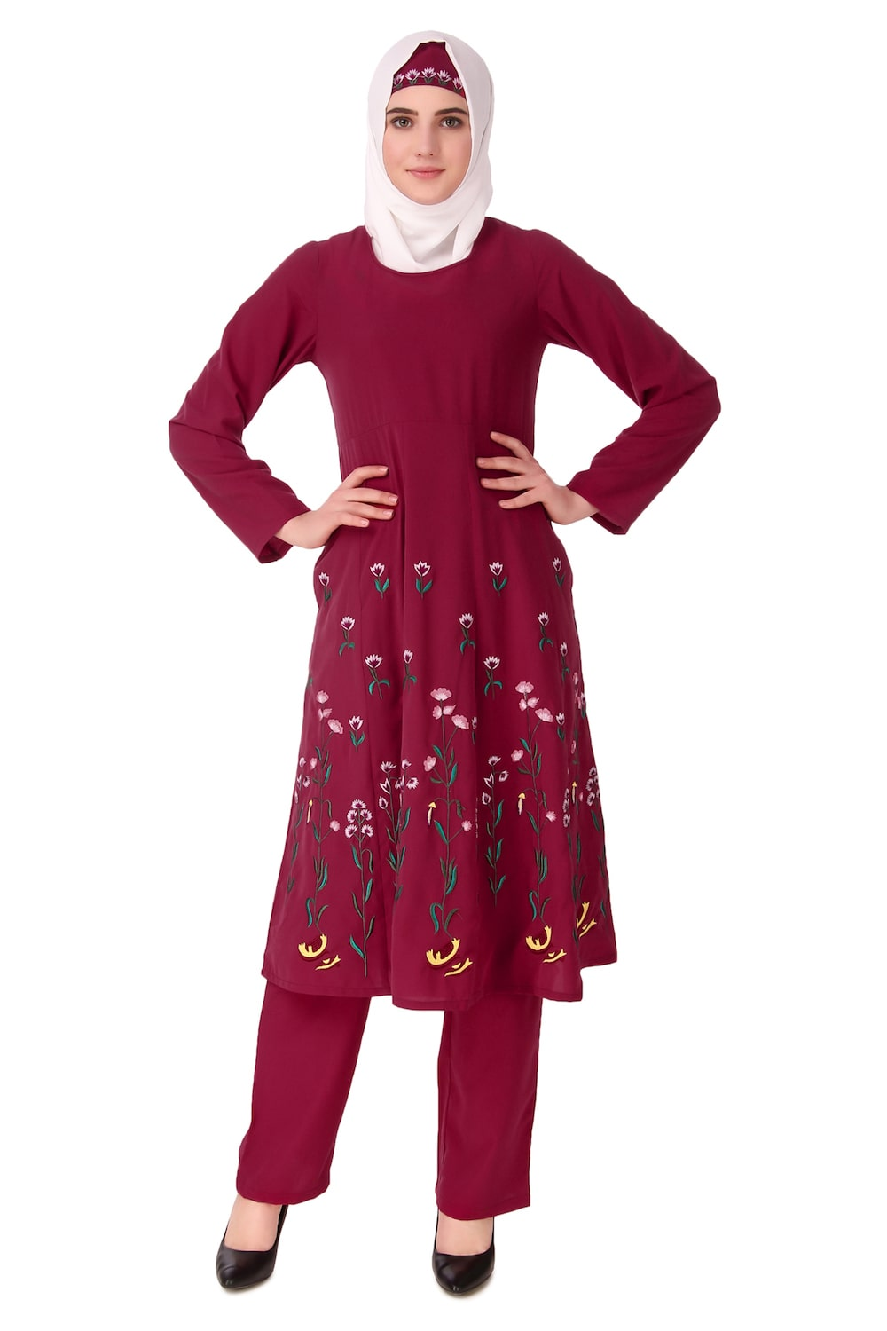 Embroidered Multi Panel Salwar Kameez