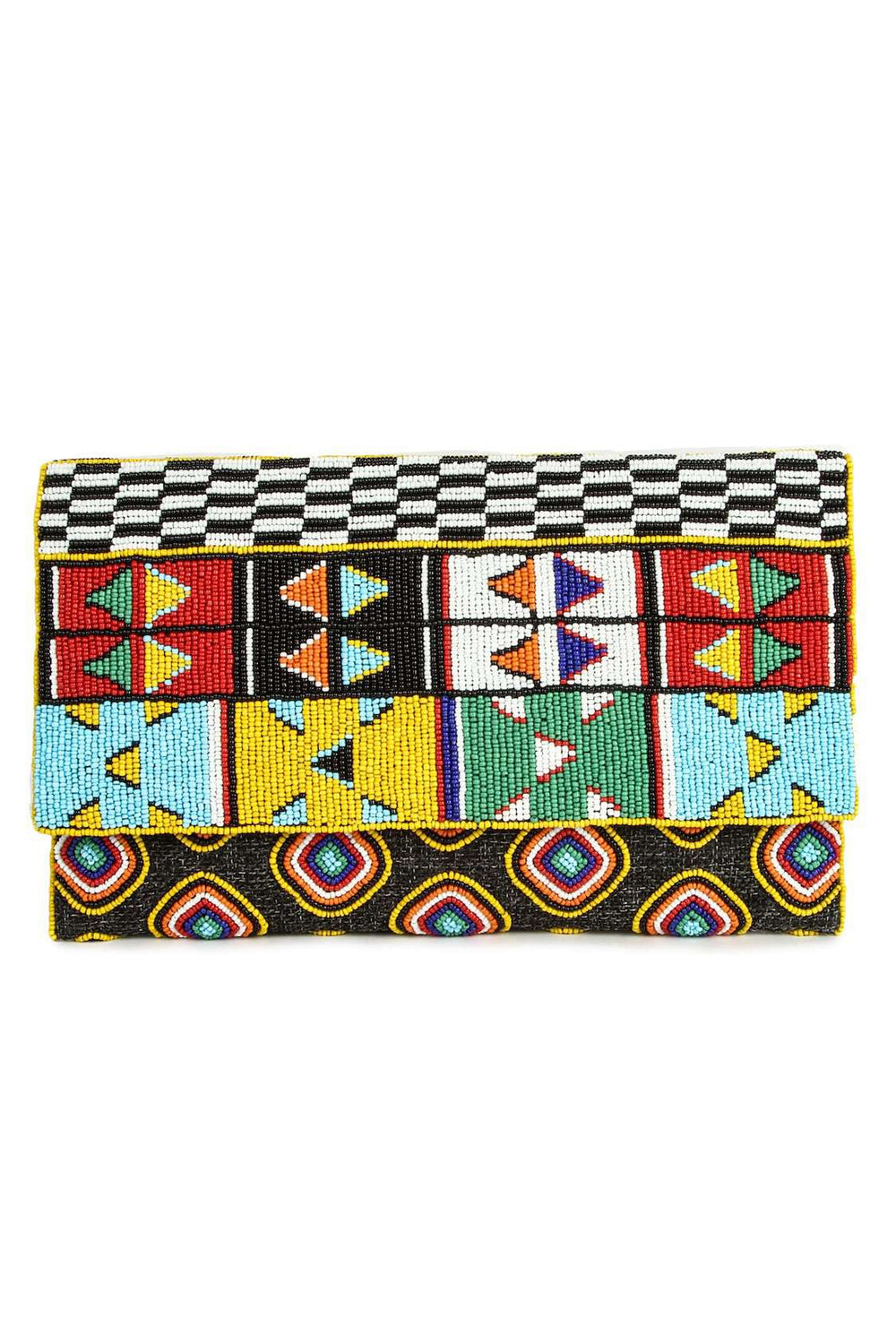 Kennedy Multi Colour Beaded Clutch Bag