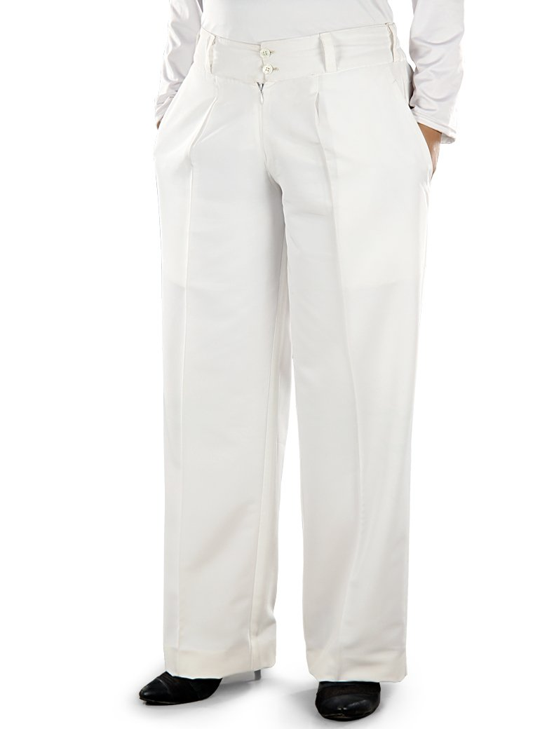Adiba White Pants