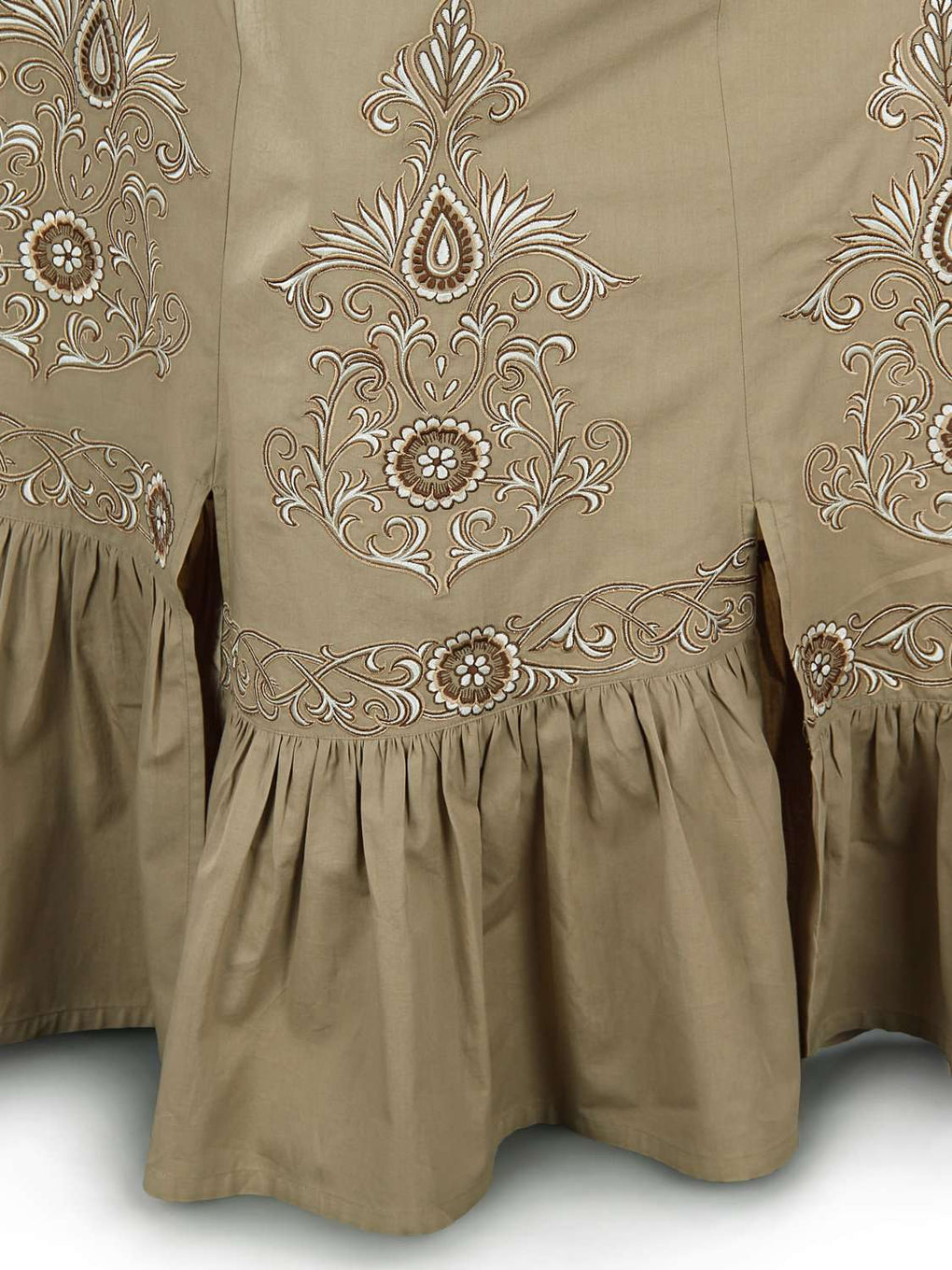 Numa Embroidered Cotton Skirt