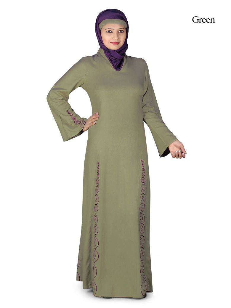 Panel Embroidered Abaya