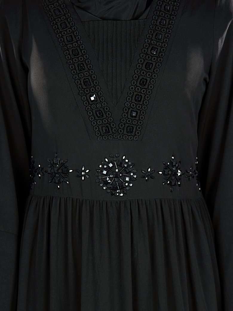 Sumlina Hand Embroidered Black Abaya