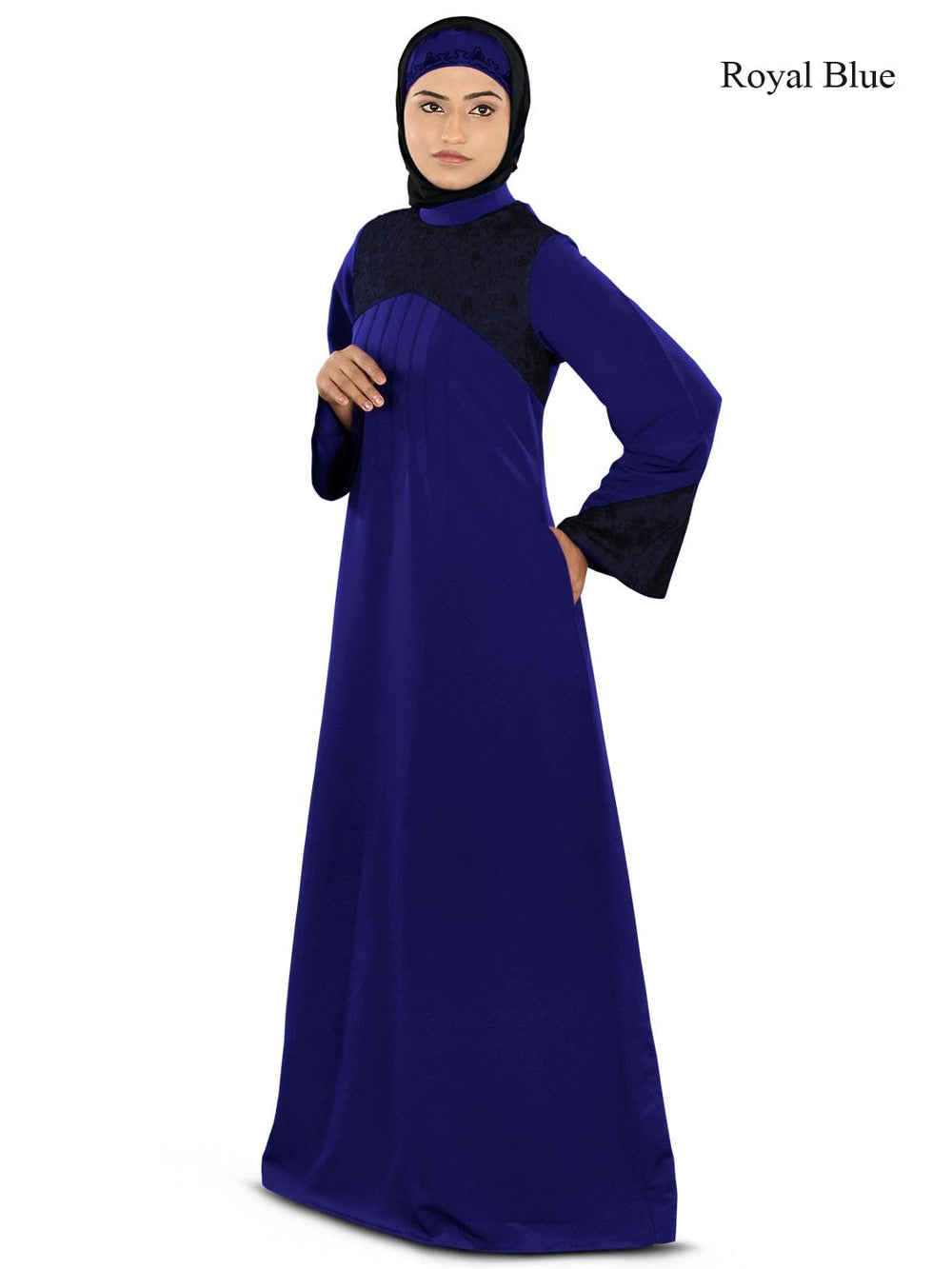 Ayesha Casual Abaya Royal Blue