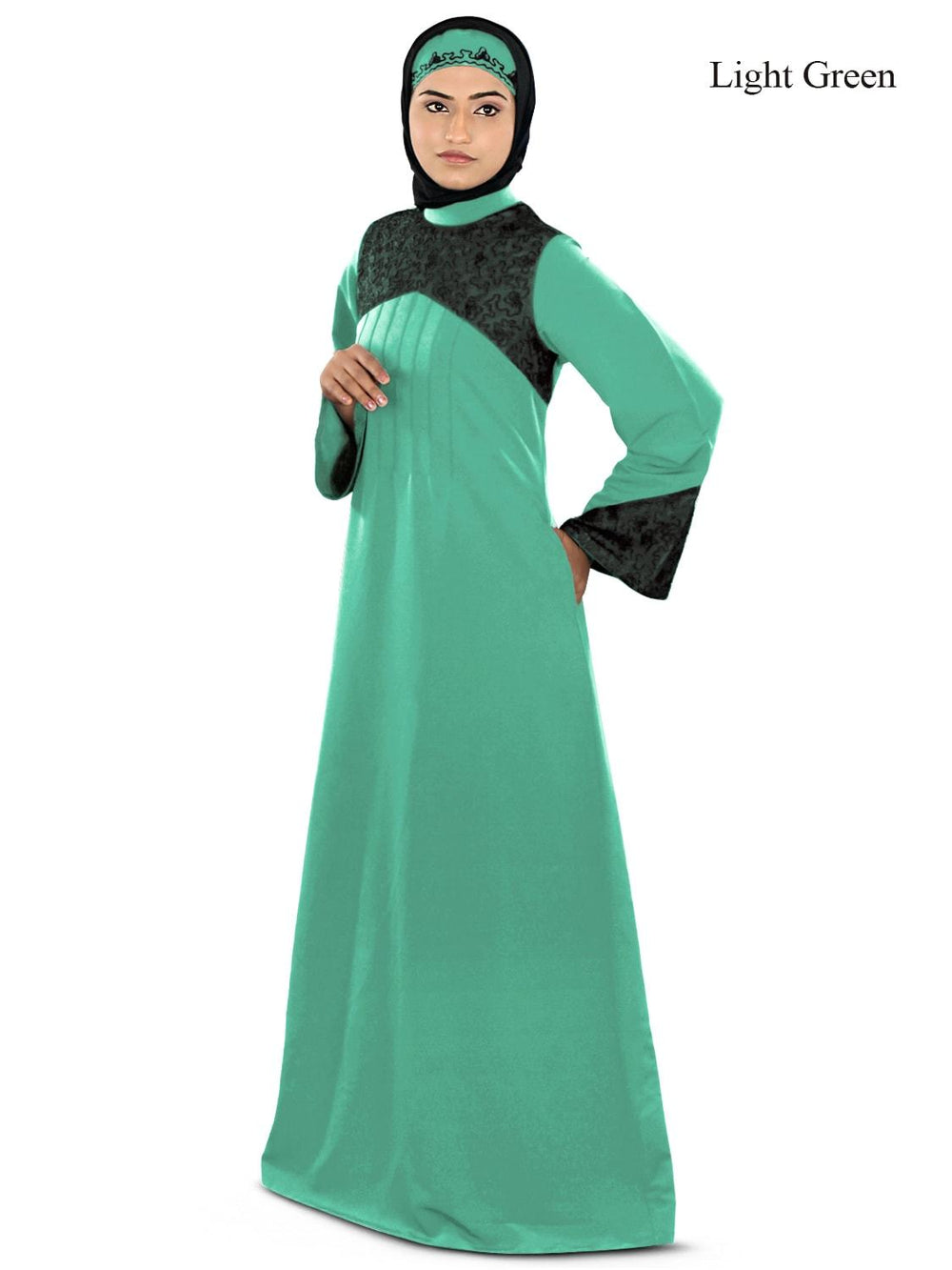 Ayesha Casual Abaya Light Green