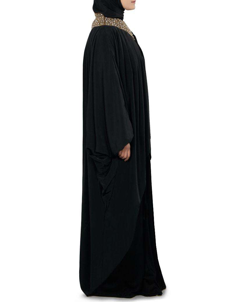 Sehr Hand Embroidered Black Kaftan Abaya