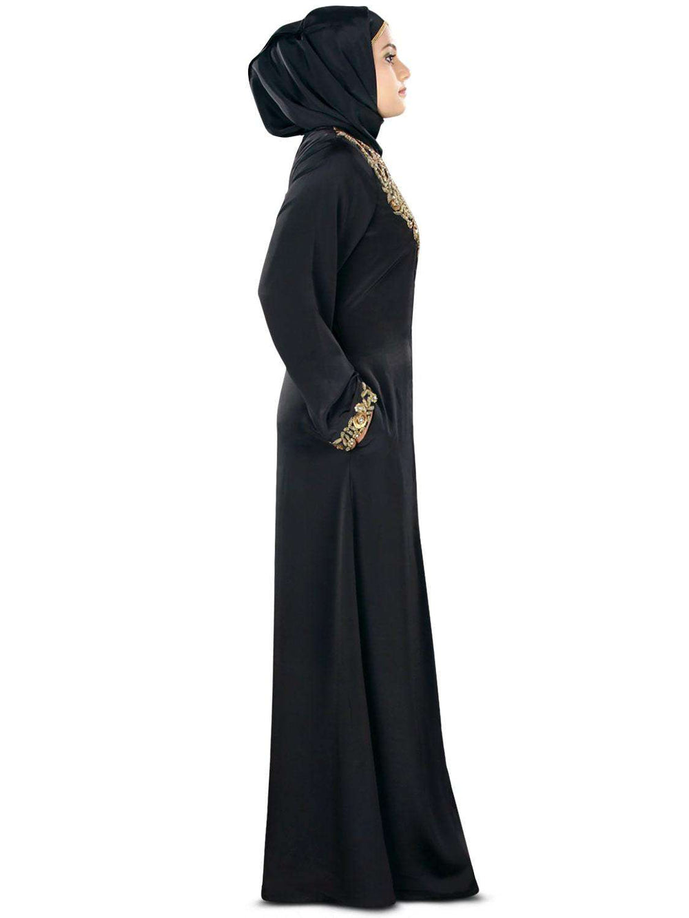 Fiddah Gold Hand Embroidered Burqa