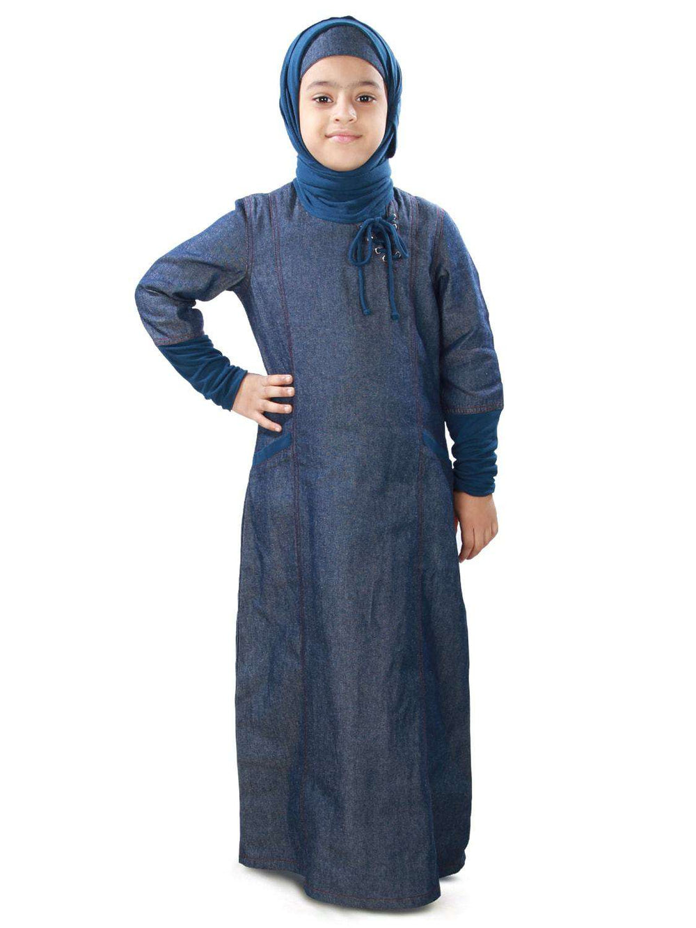 Maira Denim Kid's Abaya