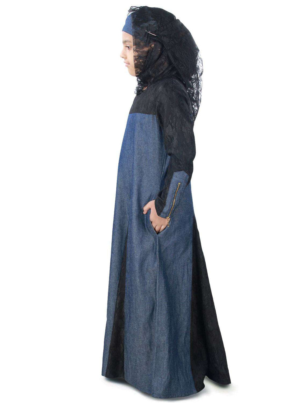 Farizah Denim Kid's Abaya