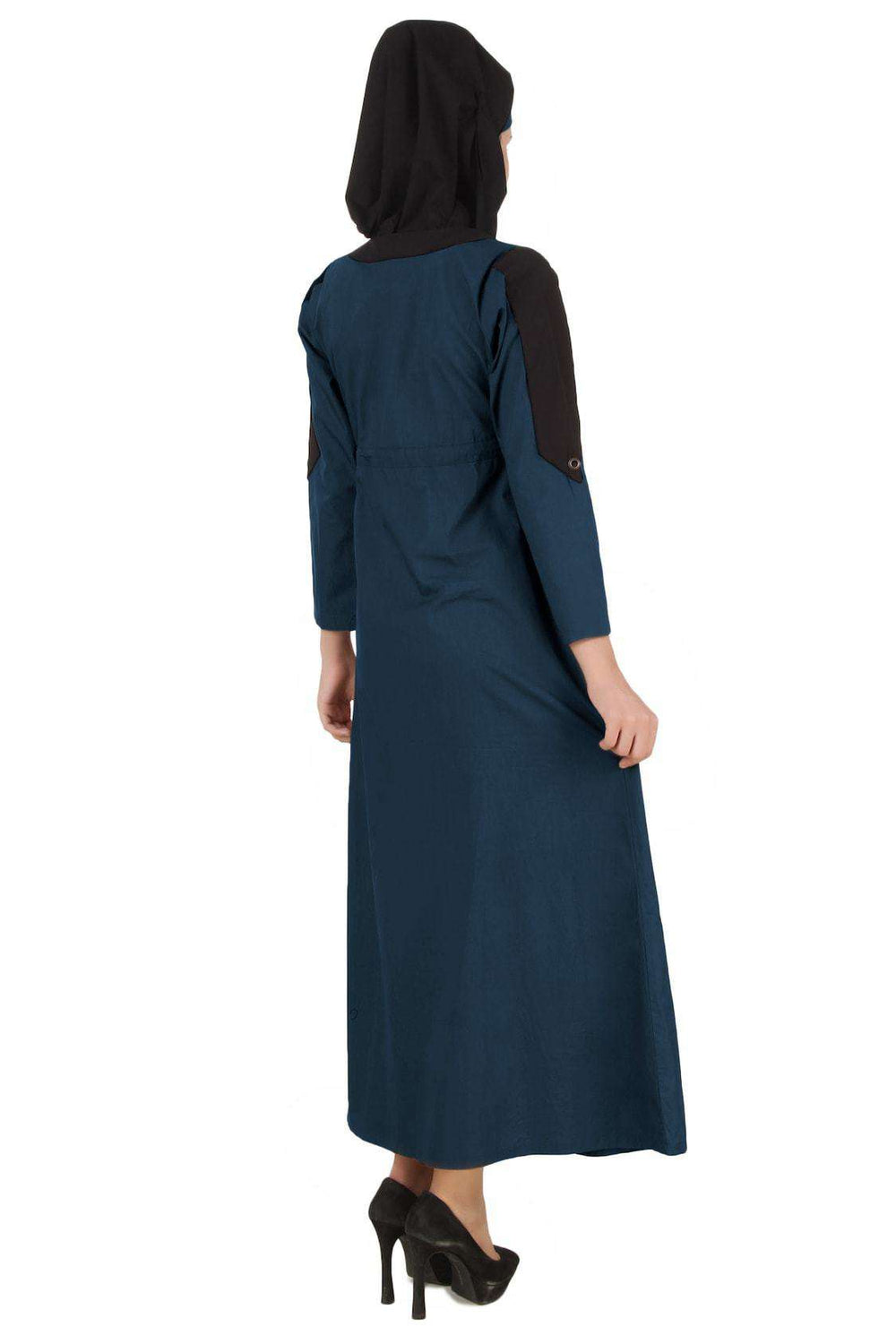 Husniya Navy Blue Cotton Jilbab