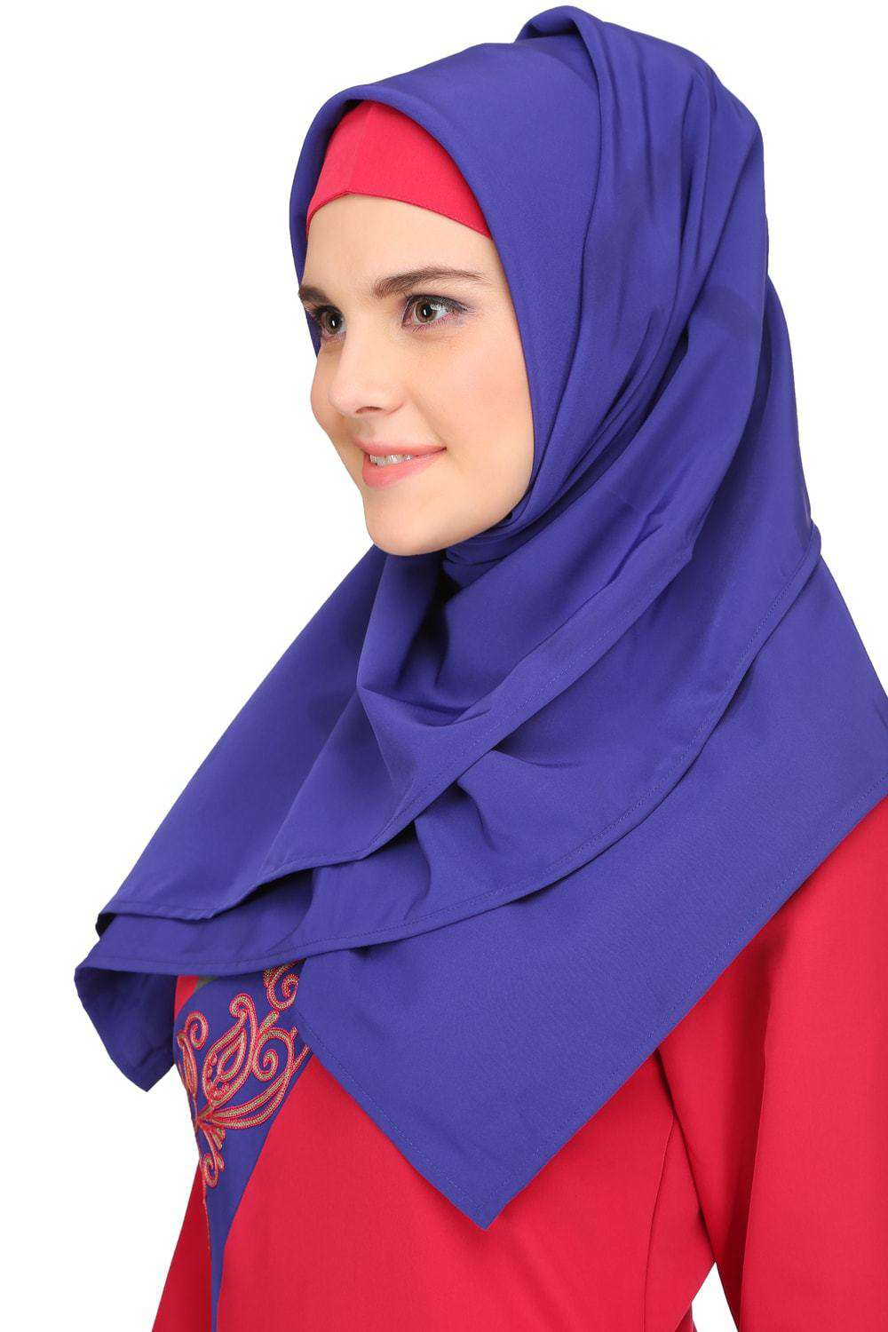 Lina Rose Pink & Royal Blue Kashibo Abaya
