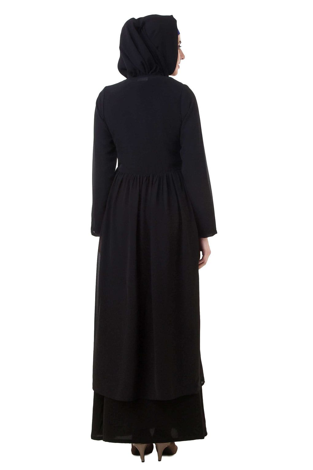Black Nida and Georgette Abaya AY-710