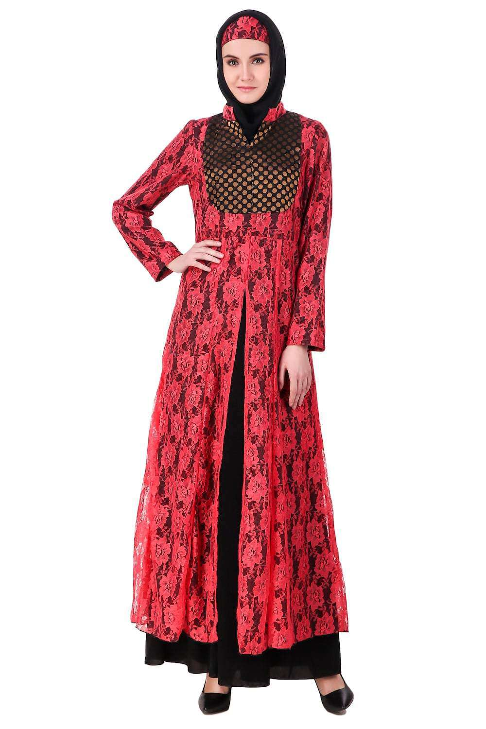 Fancy Dual Color EID Abaya