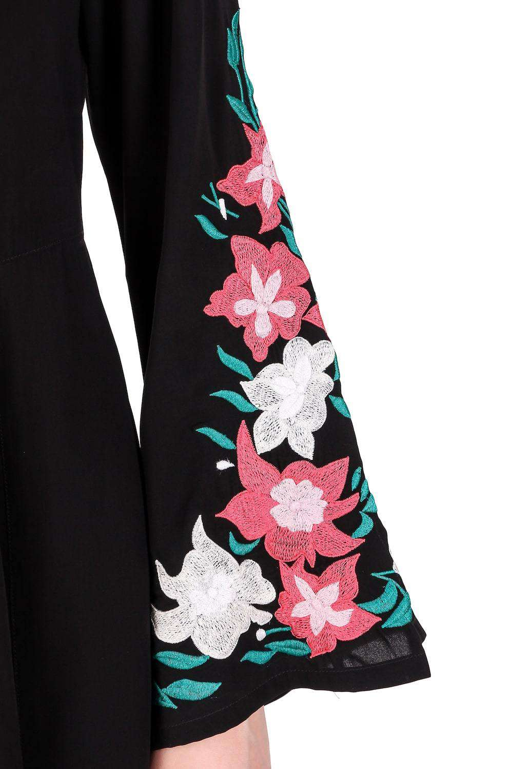 Embellished Bell Sleeve Umbrella Abaya Sleeves