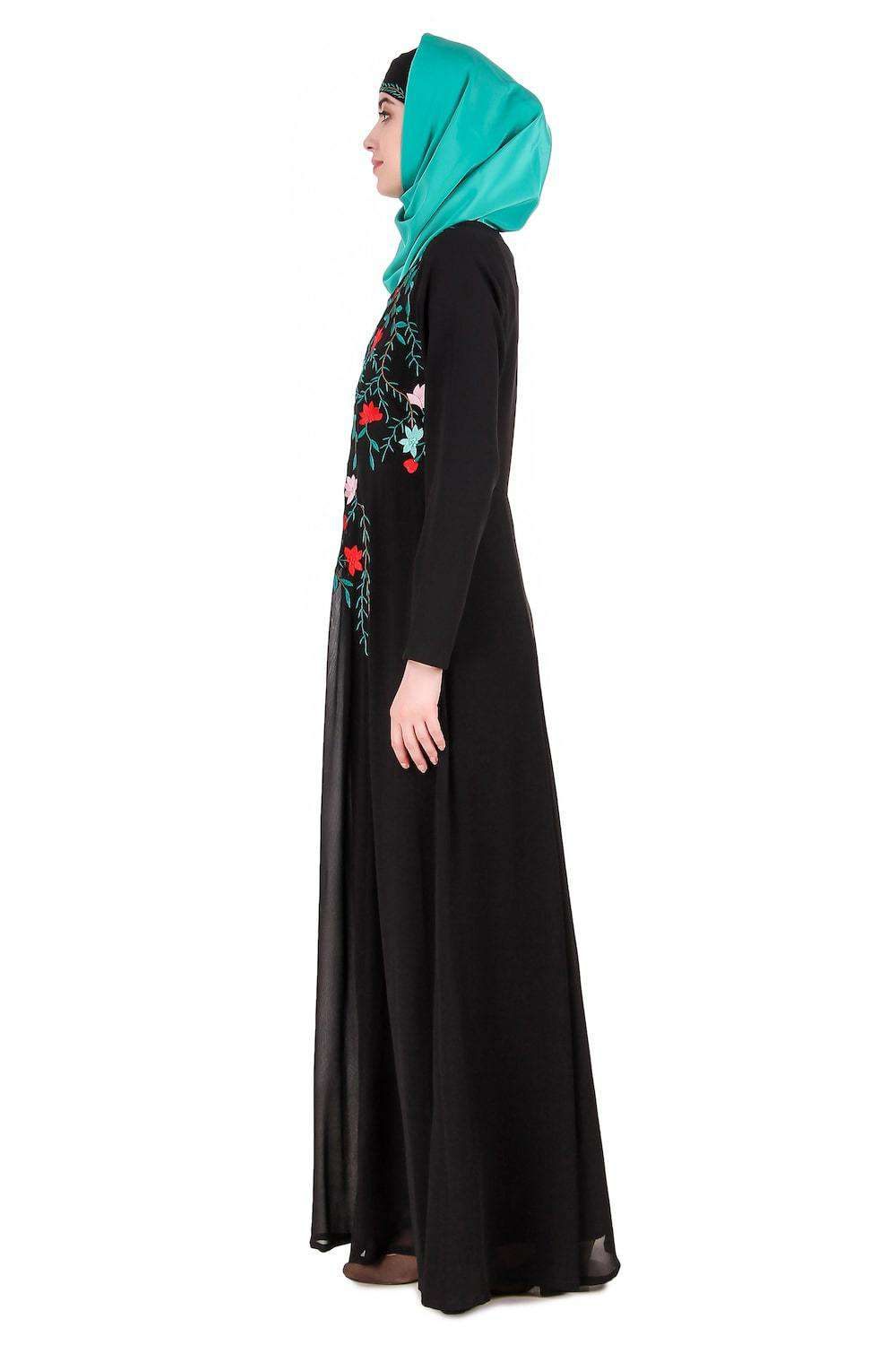 Nida & Georgette Dual Layer Anarkali Abaya