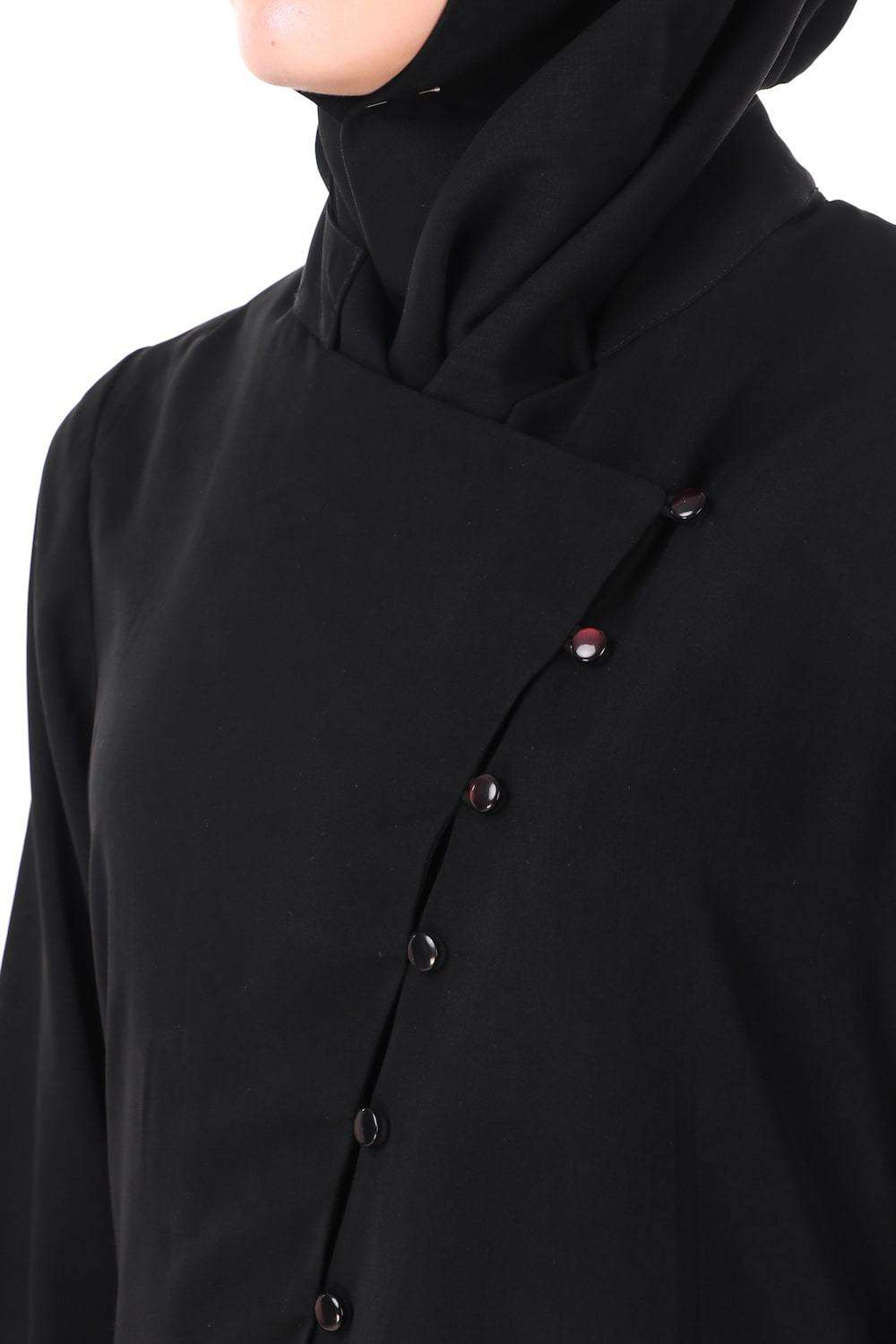 Dual Layer Cross Over Jacket Abaya