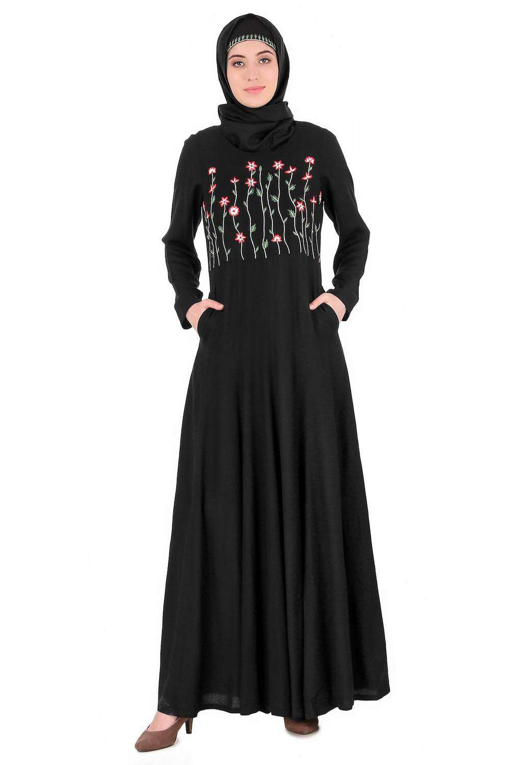 Growing Embellished Stem Anarkali Abaya