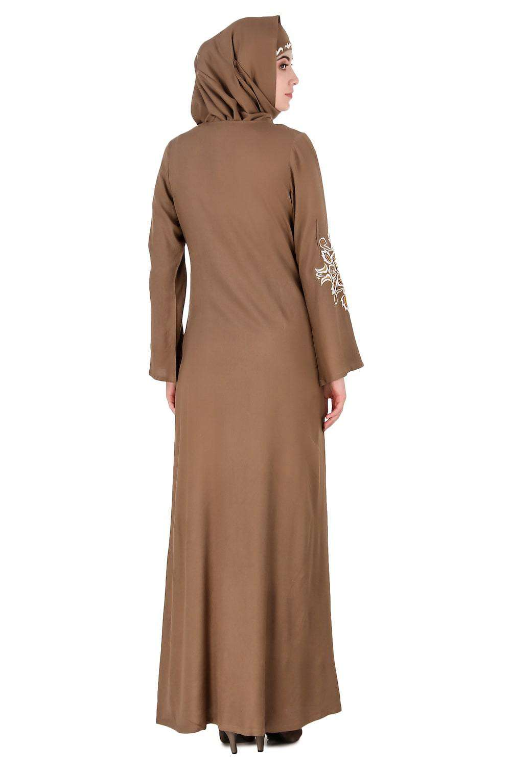 Floral Diamond Cut Festive Abaya