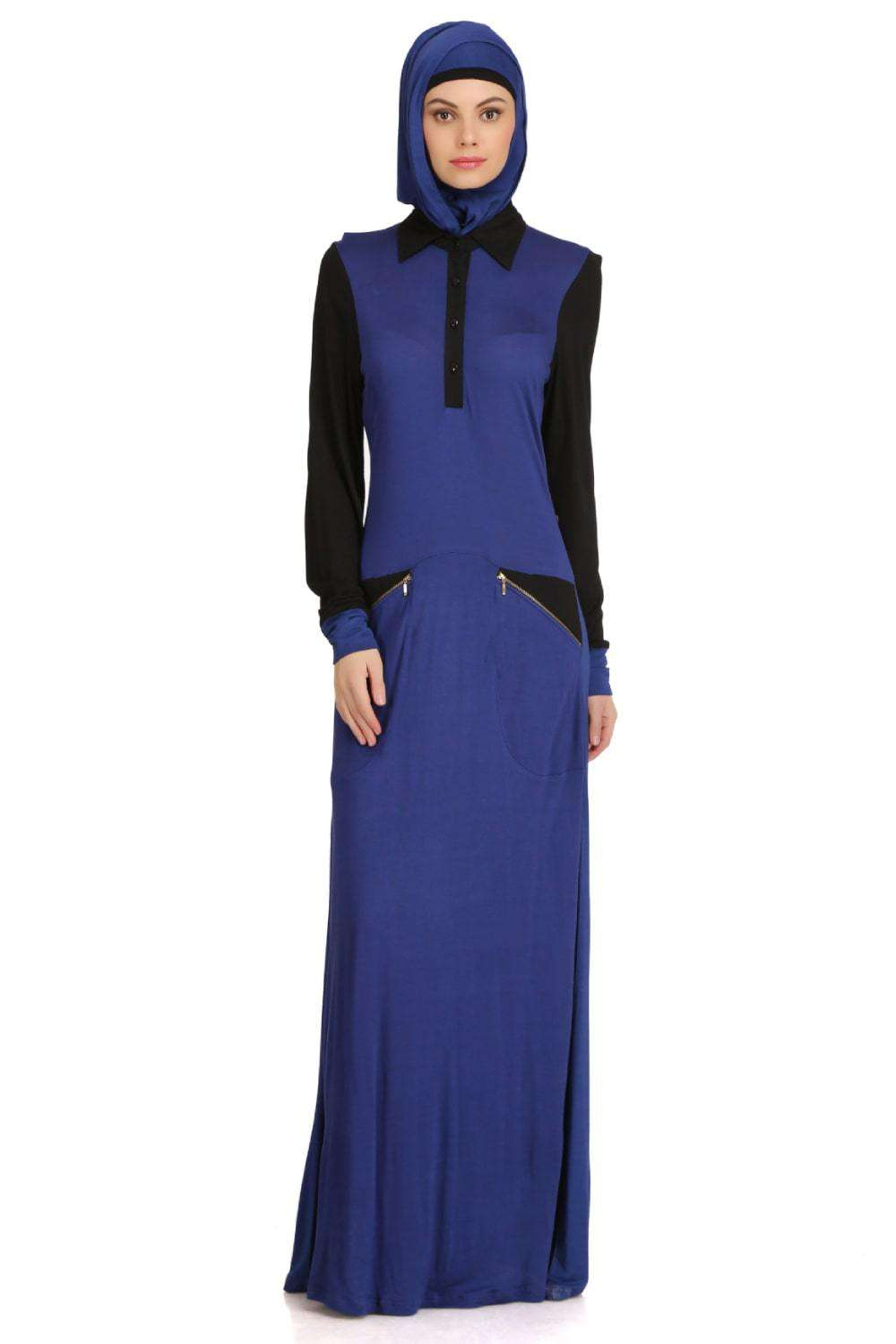 Dual Color Formal Wear Knit Abaya