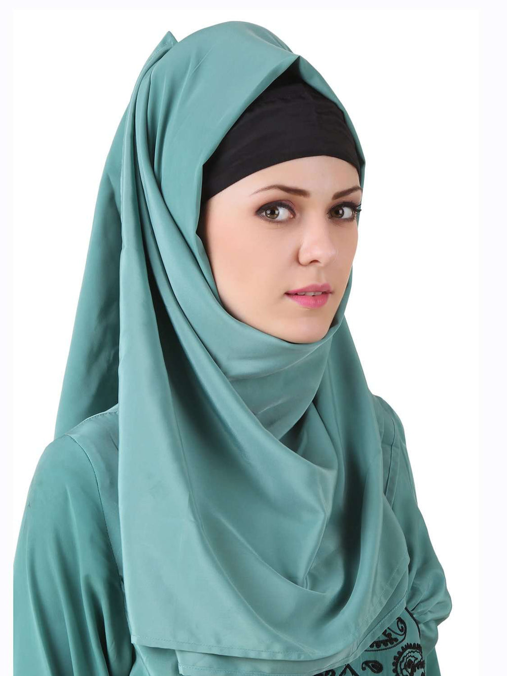 Deeba Maternity Sea Green Crepe Hijab