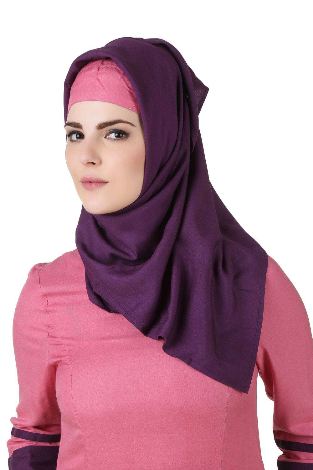 Noreen Purple Rayon Hijab