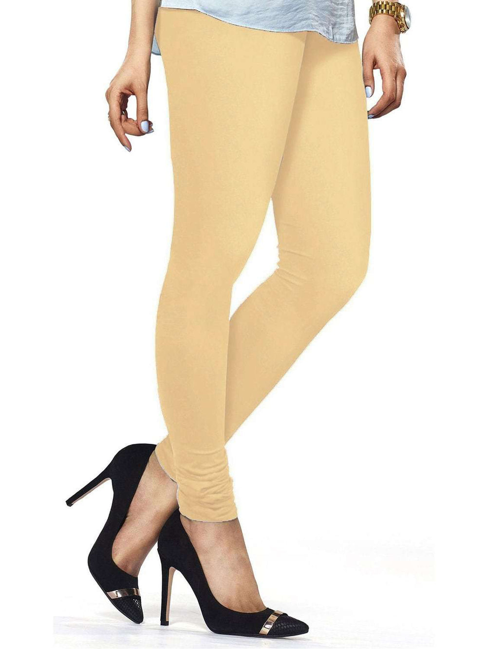 Cotton Lycra Churidar Free Size Skin Leggings