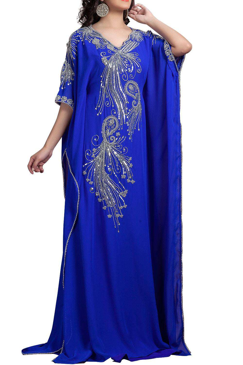 Blue Color Georgette Farasha