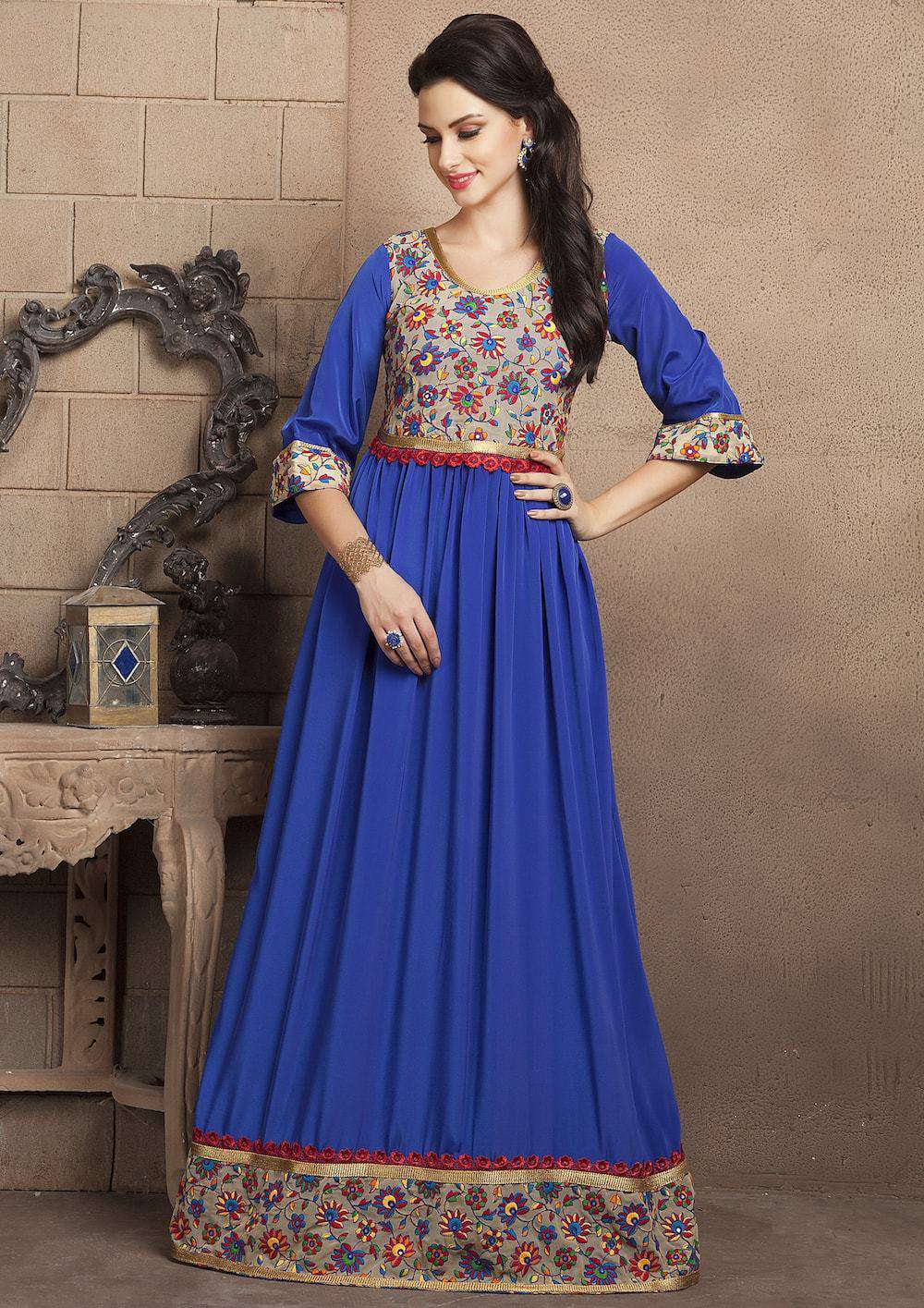 Buy Royal Blue Casual Maxi Dress With