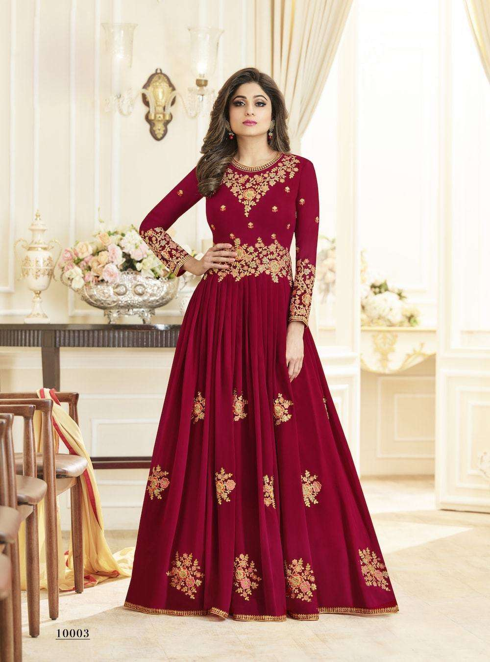 Georgette Embroidered Anarkali Salwar Kameez MYSK-004