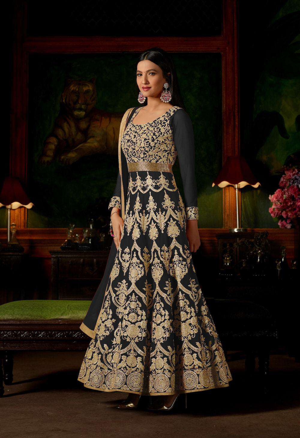 Embroidered Floor Length Anarkali Salwar Kameez MYSK-012