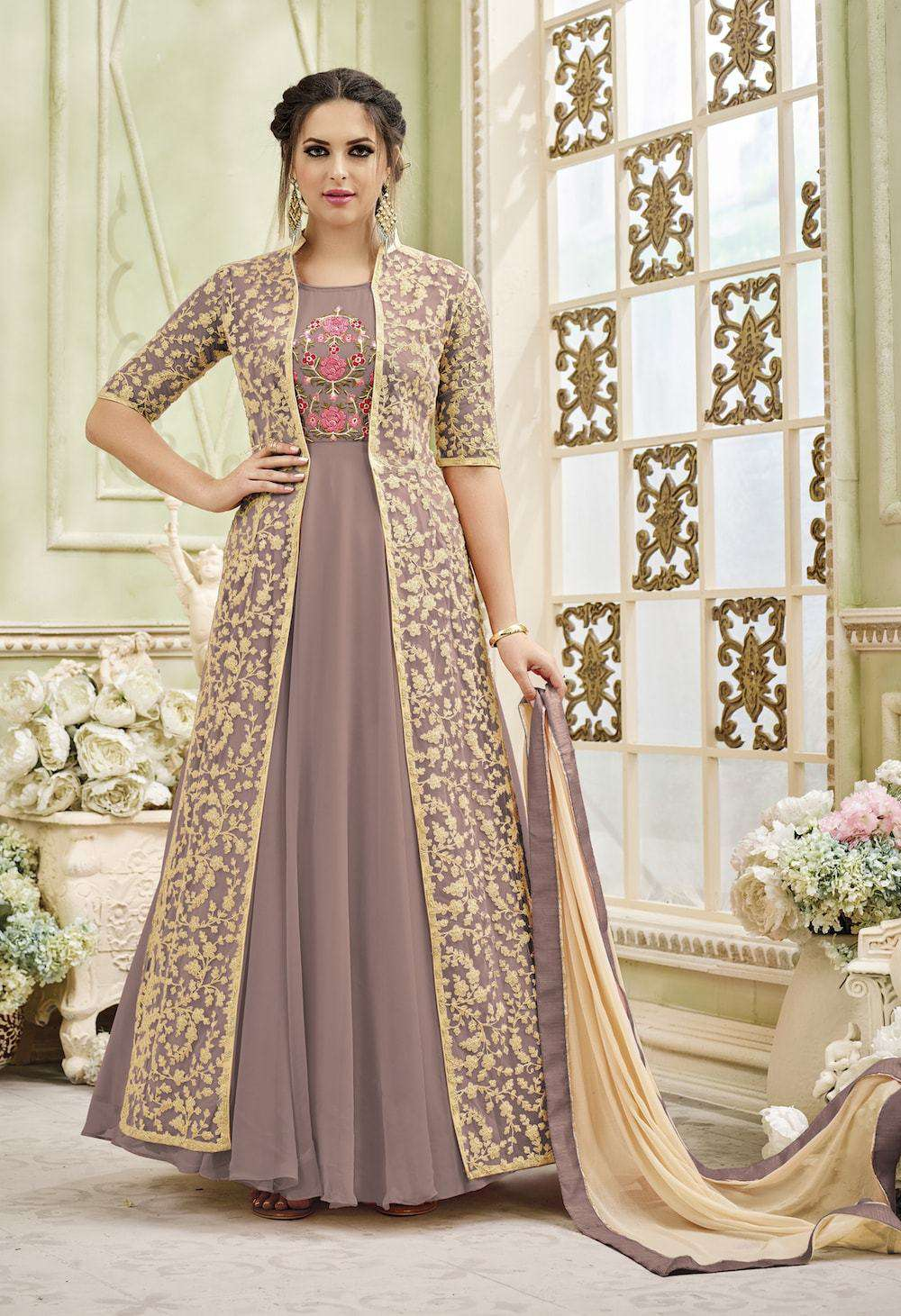 Silk Embroidered Purple Anarkali Salwar Kameez MYSK-035
