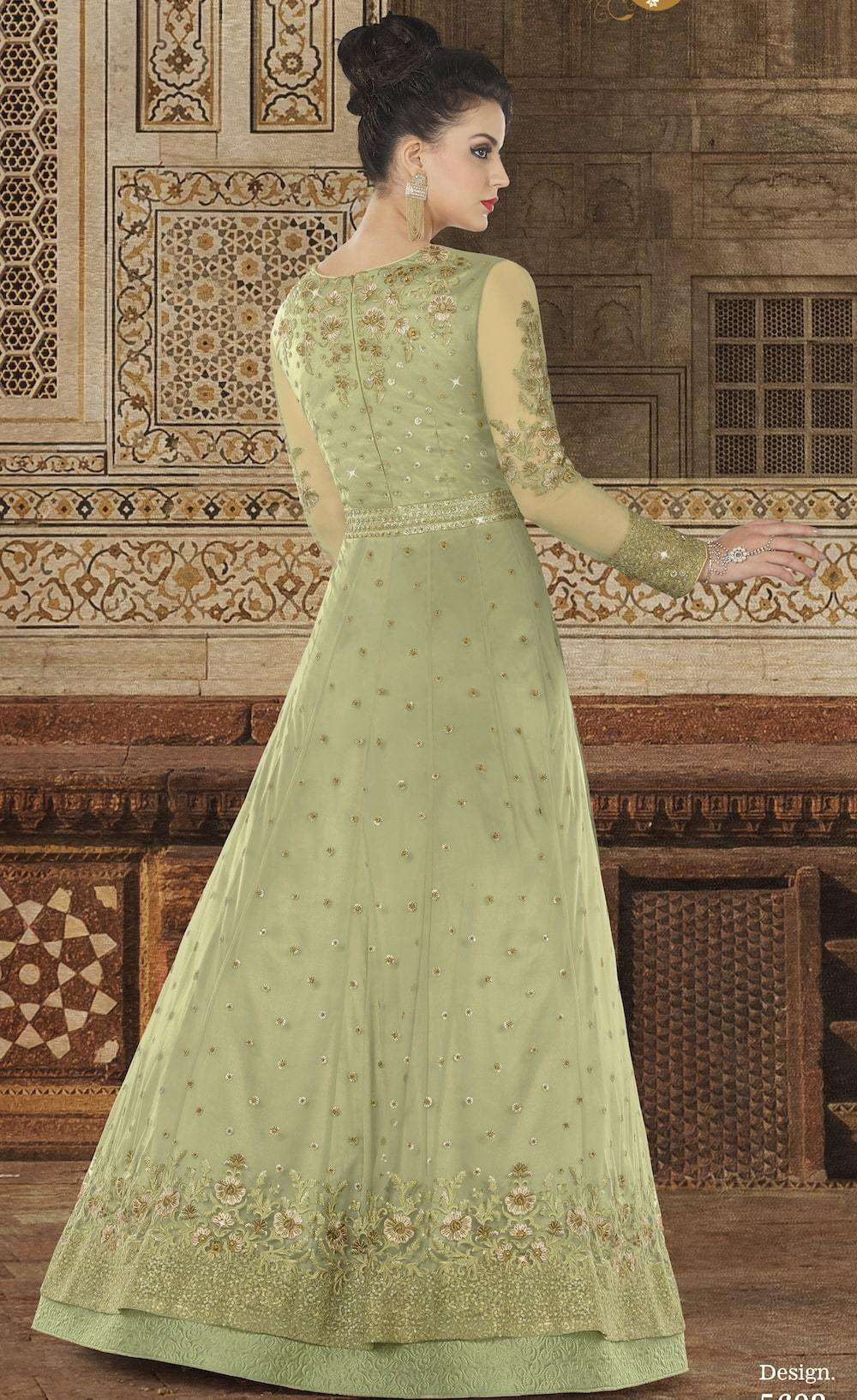 Heavy Embroidered Green Premium Net Salwar Kameez MYSK-1175
