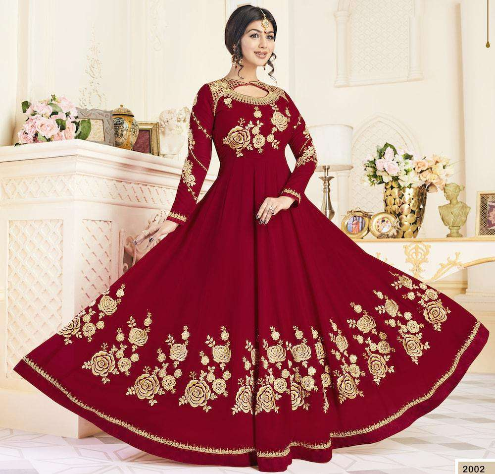 Red Georgette Long Wedding Dress Salwar Kameez MYSK-1223