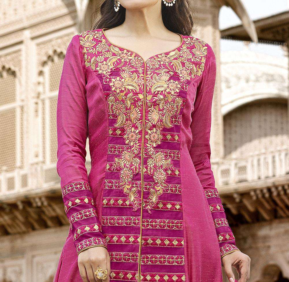 Traditional Beautiful Pink Cotton Salwar Kameez MYSK-1239