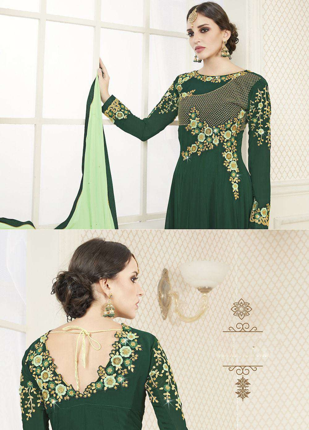 Beautiful Floor Length Green Georgette Salwar Kameez MYSK-1272