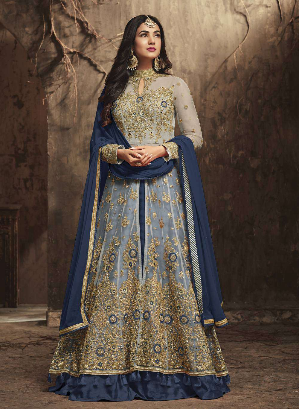 Blue Heavy Look And Beautiful Embroidered Party Wear Salwar Kameez MYSK-1304