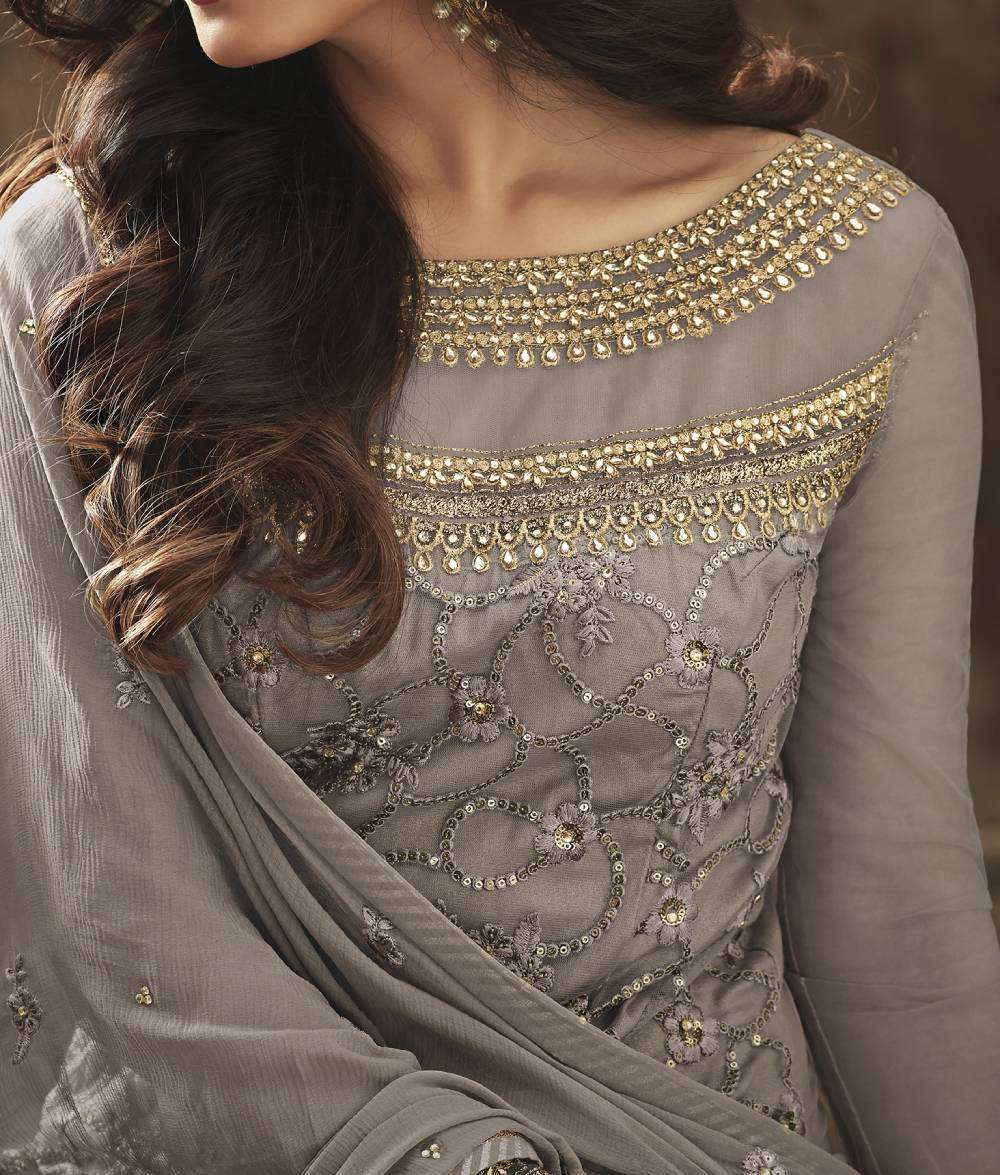 Grey Heavy Look And Beautiful Embroidered Party Wear Salwar Kameez MYSK-1306