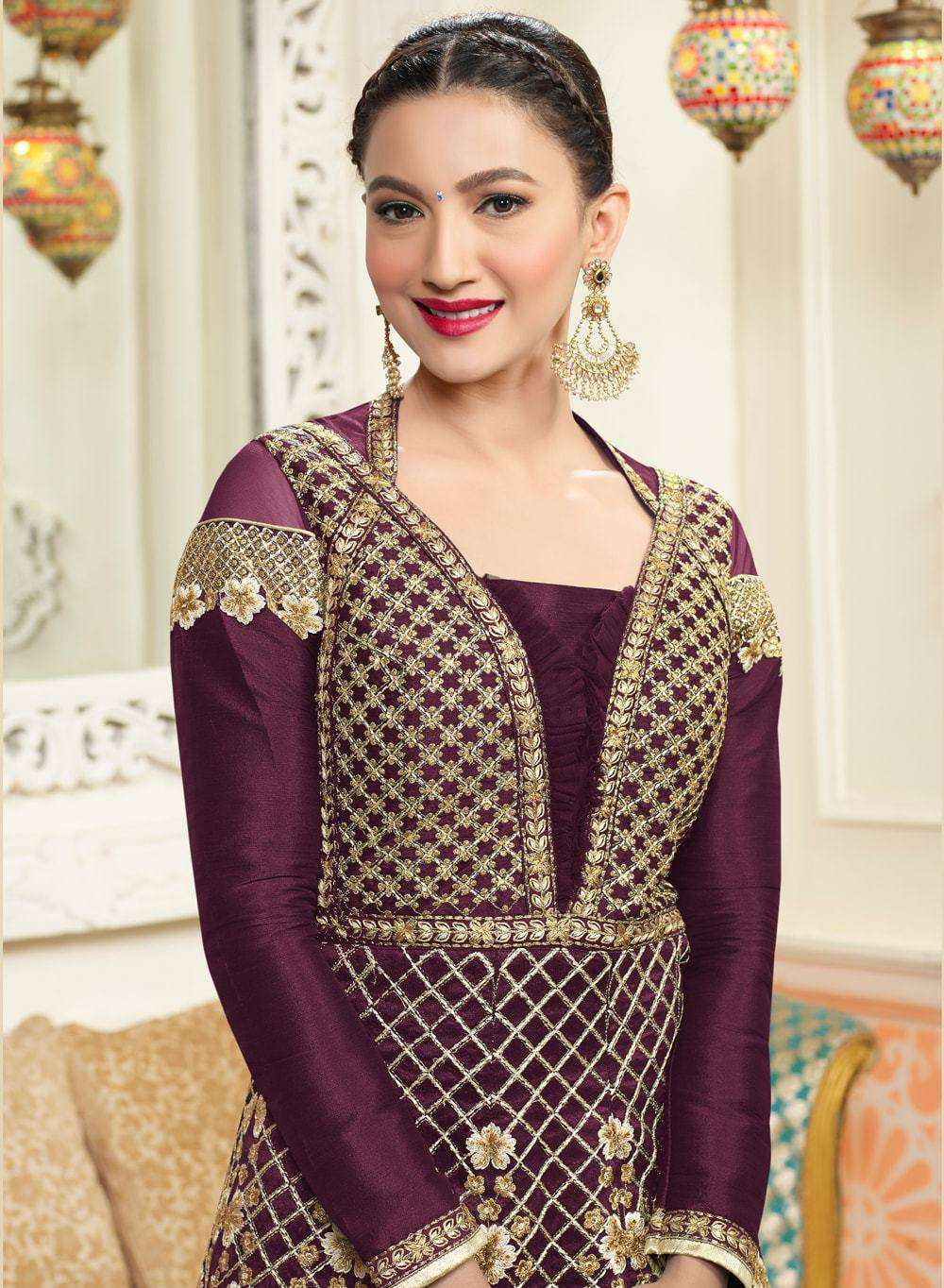 Art Silk Embroidered Anarkali Salwar Kameez MYSK-149