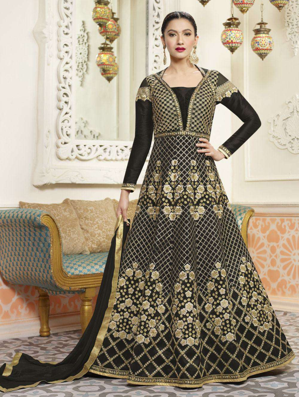 Art Silk Embroidered Anarkali Salwar Kameez MYSK-150