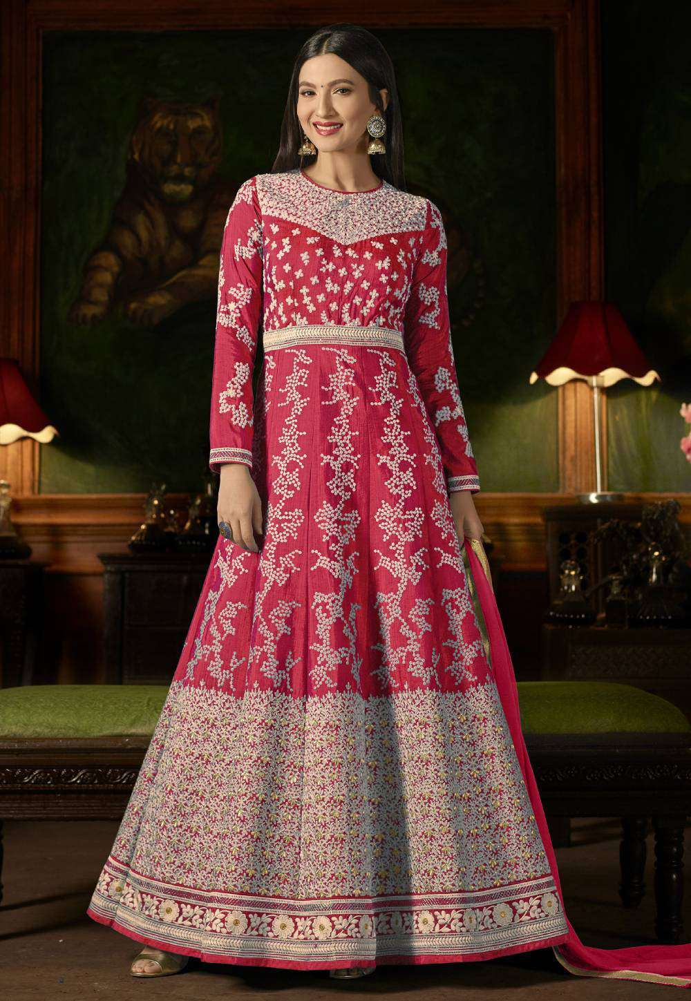 Pink Mulberry Silk With Embroidered Occasional Wear Salwar Kameez MYSK-1628