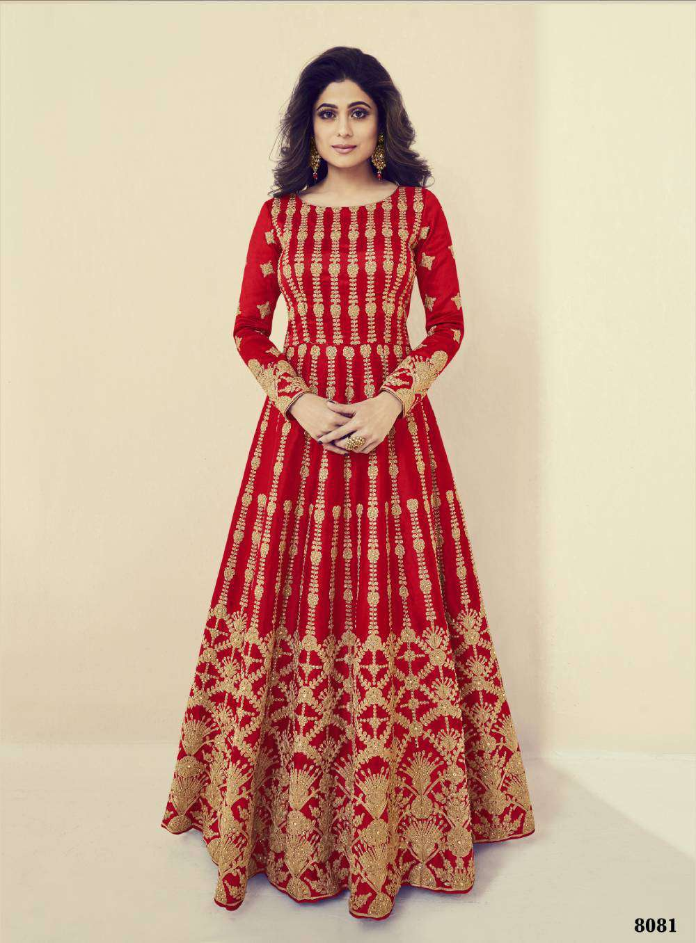 Stylish Red Royal Silk Party Wear Embroidered Salwar Kameez MYSK-1695