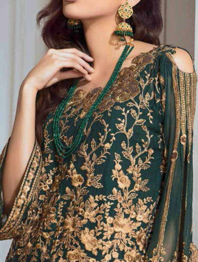 Casual Wear Green Georgette Fabric With Embroidered Salwar Kameez MYSK-1702
